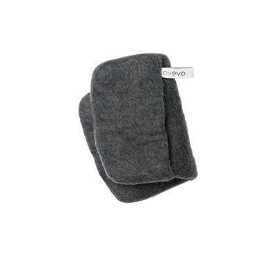 Handmade potholder made of 100% wool - Dark grey.