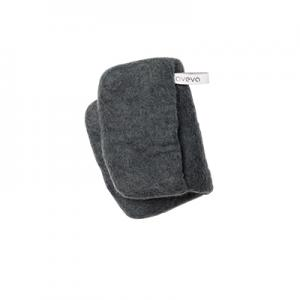 Handmade potholder made of 100% wool - Dark grey.
