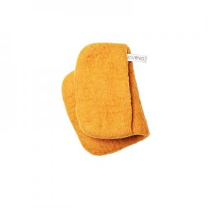 Handmade potholder made of 100% wool - Mustard.