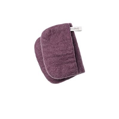 Purple potholder in 100% wool