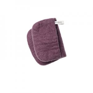 Purple potholder in 100% wool