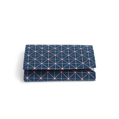 WALLET, FABRIC, blue