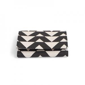 WALLET, FABRIC, black/white