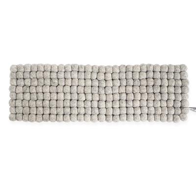 Handmade tablerunner made of 100% wool - Raw grey.