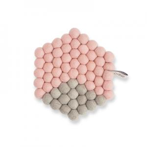 TRIVET, HEXAGON, pink