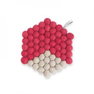 TRIVET, HEXAGON, cherry