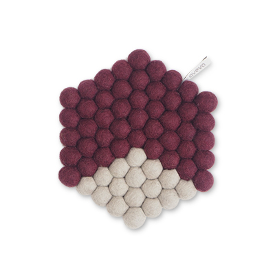 TRIVET, HEXAGON, aubergine