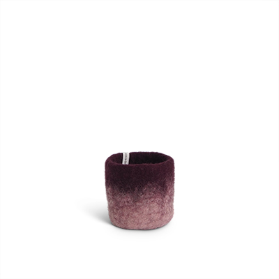 FLOWER POT 18, S, aubergine
