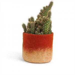 FLOWER POT 18, M, rust