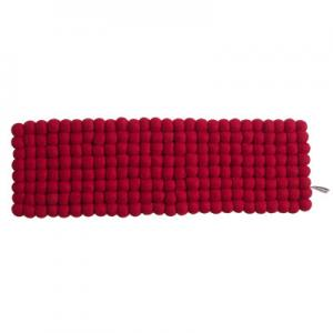 Handmade tablerunner made of 100% wool - Red.