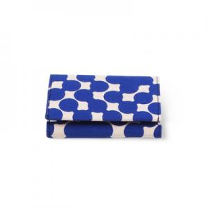 WALLET, FABRIC, blue dot