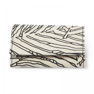 WALLET, FABRIC, jungle white