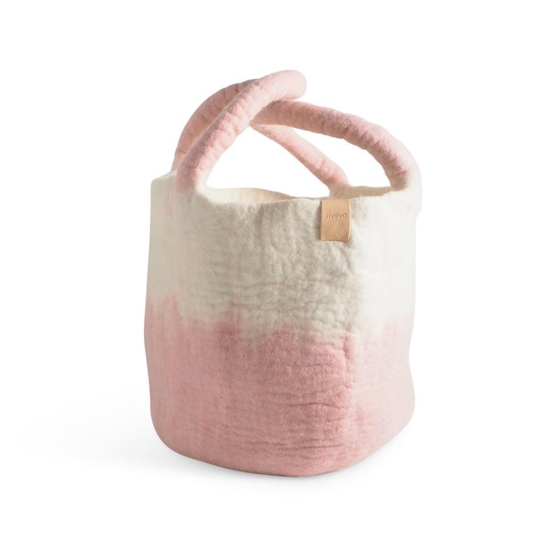 WOOL BASKET, pink