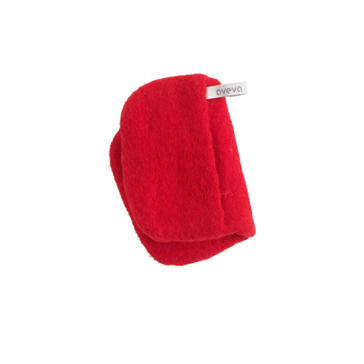 Handmade potholder made of 100% wool - Red.