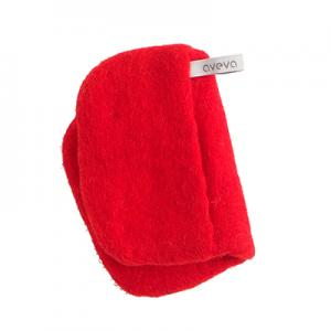 Handmade potholder made of 100% wool - Red