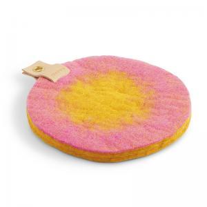 TRIVET, OMBRE, pink-mustard