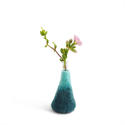 WOOL VASE, M, deep-blue-sky