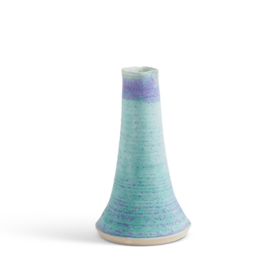 Askja - Ceramic vase in blue glaze.