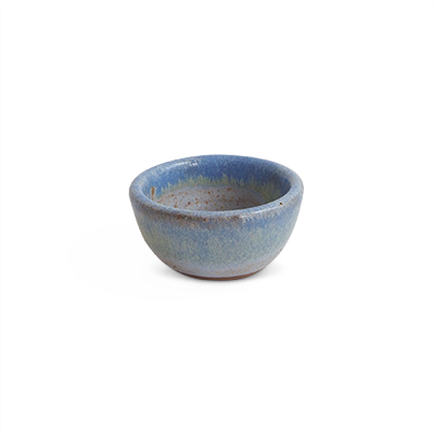 Small bowl in ceramic in light blue hues.