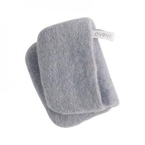 Handmade potholder made of 100% wool - Concrete