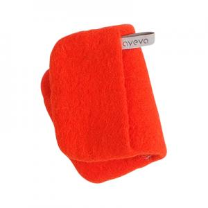 Handmade potholder made of 100% wool - Coral