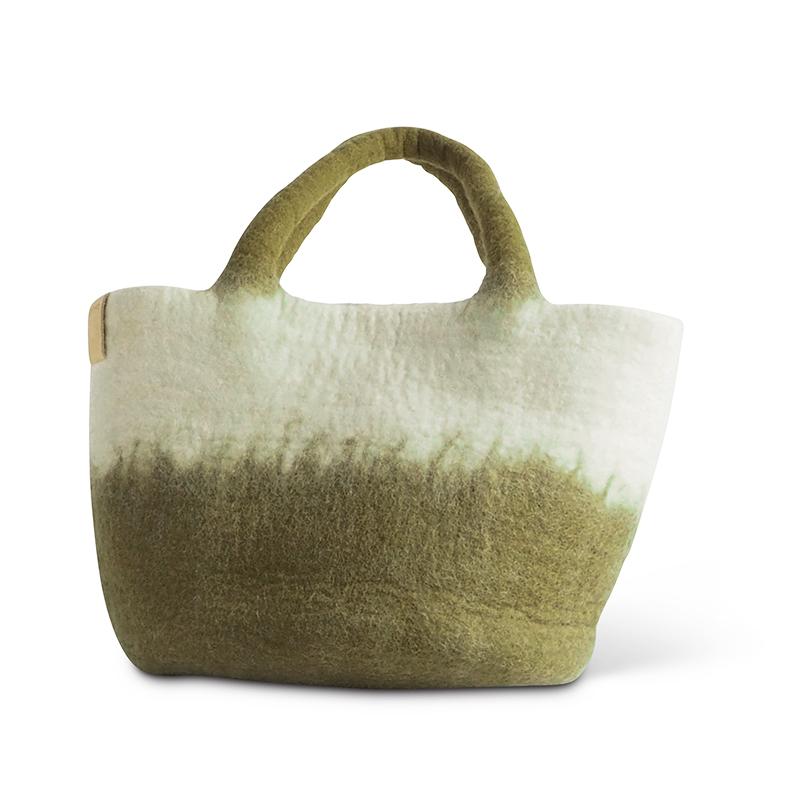 WOOL BAG, olive