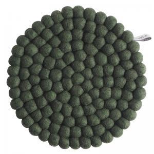 TRIVET, ROUND, L, moss green