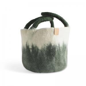 WOOL BASKET, moss green