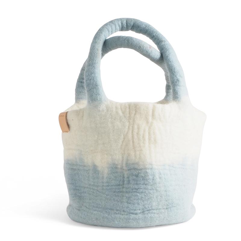 WOOL BAG, arctic blue
