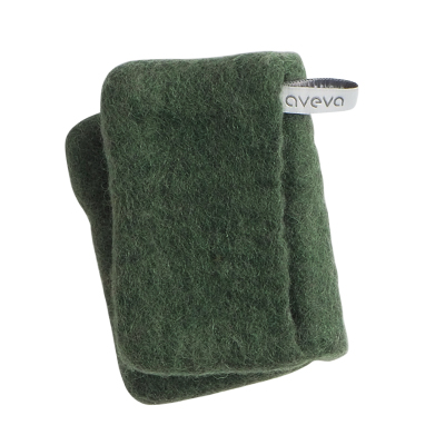 Handmade potholder made of 100% wool - Moss green
