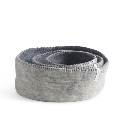 Table baskets in 3 sizes - colors in grey.