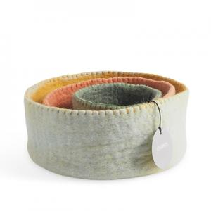 Table baskets in 3 sizes - colors in sage green, ochre and nude.