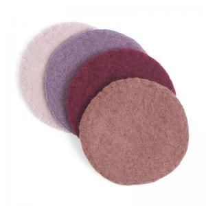 WOOL COASTER, 4-pack, lavender