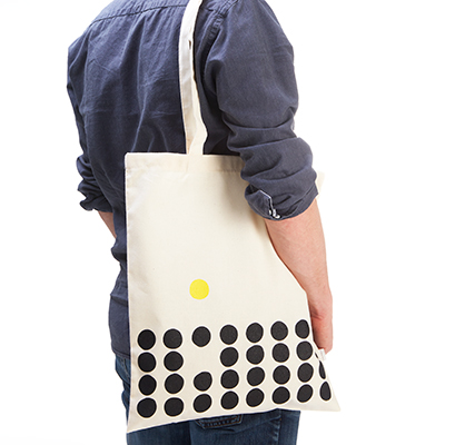 Tote bag in recycled cotton