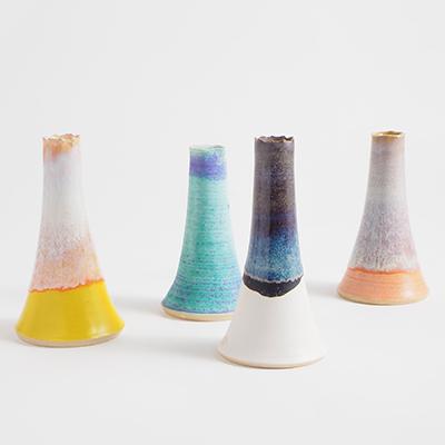 Vases in ceramic in different colors ad glazes.