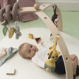 BabySpyder activity gym wood