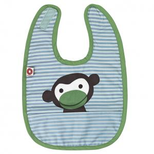 Eat blue monkey bib