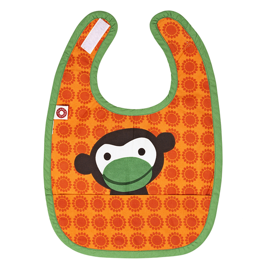 Eat orange monkey bib