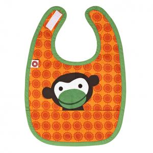 Eat orange monkey bib
