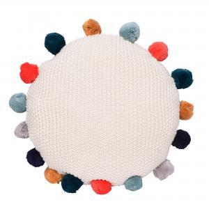 Pompom round pillow