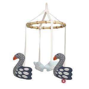 Fly dark swan mobile