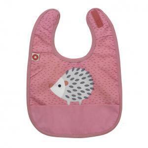 Eat pink hedgehog bib