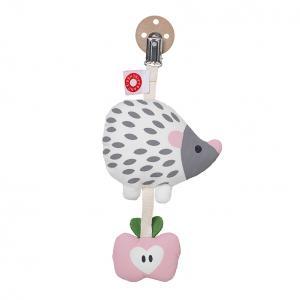 Tinka white hedgehog clip rattle