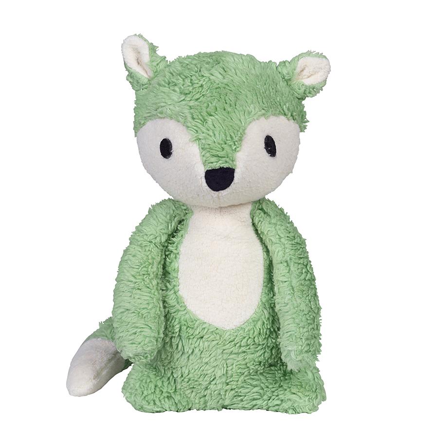 Mikkel green fox cuddle toy