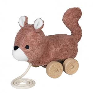 Mingus brown squirrel pull toy