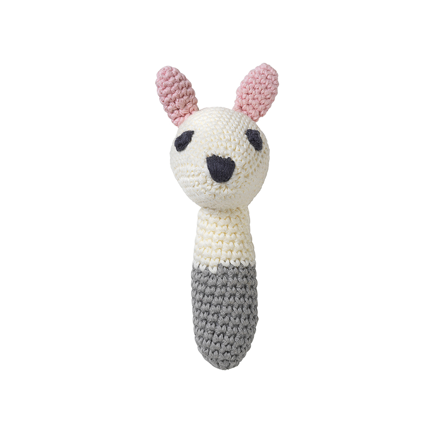 Sarah white rabbit rattle