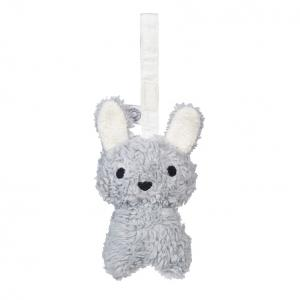 Louise grey rabbit hanging rattle