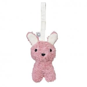 Louise pink rabbit hanging rattle