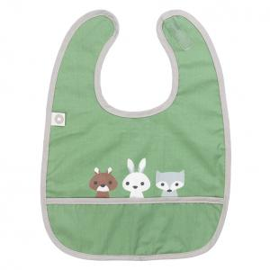 Eat green friends bib