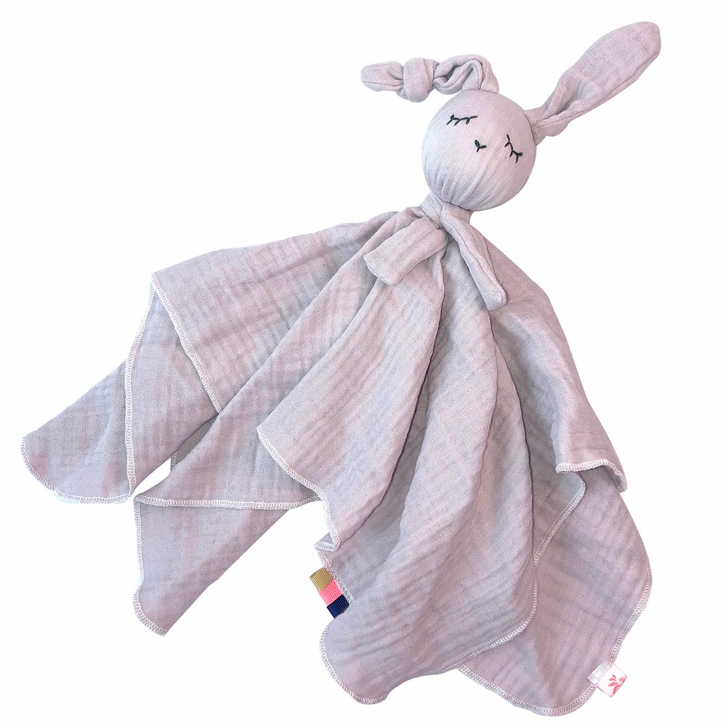 Towel Doll Rabbit Pale Rose